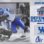 UK Football's Josh Allen Named Walter Camp National Defensive Player of the Week