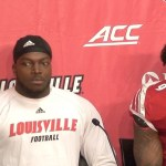 Louisville Football Tabarius Peterson & CJ Avery NC State Postgame