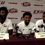 EKU Basketball Hicks, Brown & King – Media Day 2019