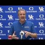 UK Wildcats MBB Coach John Calipari Previews Georgia Tech