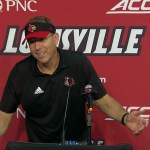 UofL Cardinals Football Coach Satterfield After LOSS to UVA