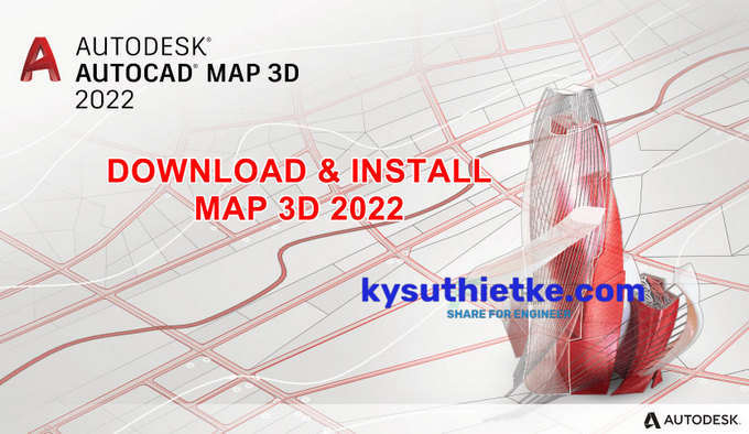 Download and Install AutoCAD MAP 3D 2022 Full Active Free Link Google Drive