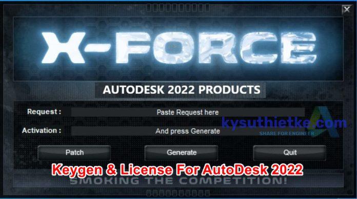 Download Xforce 2022 keygen and Product key Autodesk 2022