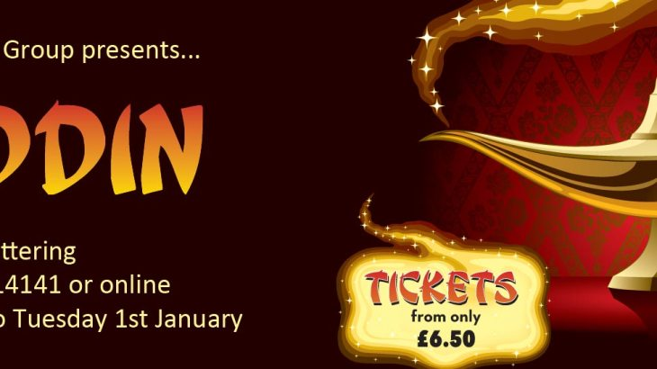 Aladdin 2018 at the Masque Theatre Kettering
