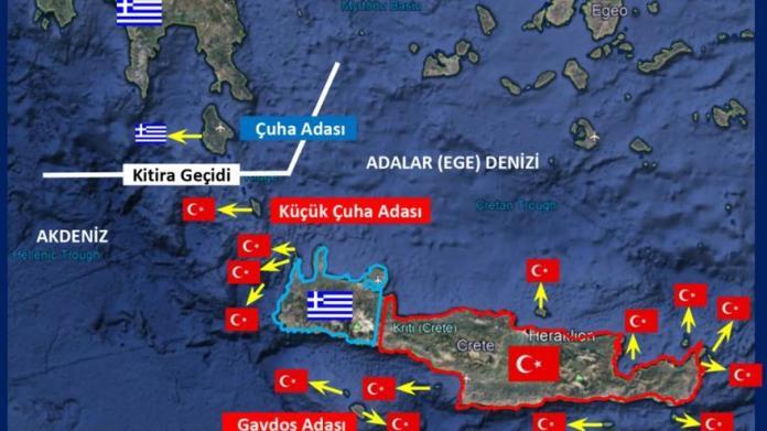 Αιγαίο Πέλαγος τουρκική σημαία Κύθηρα