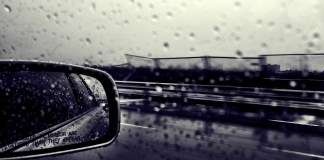 rainning car