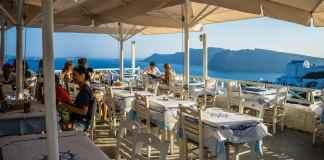 restaurant, oia, santorini