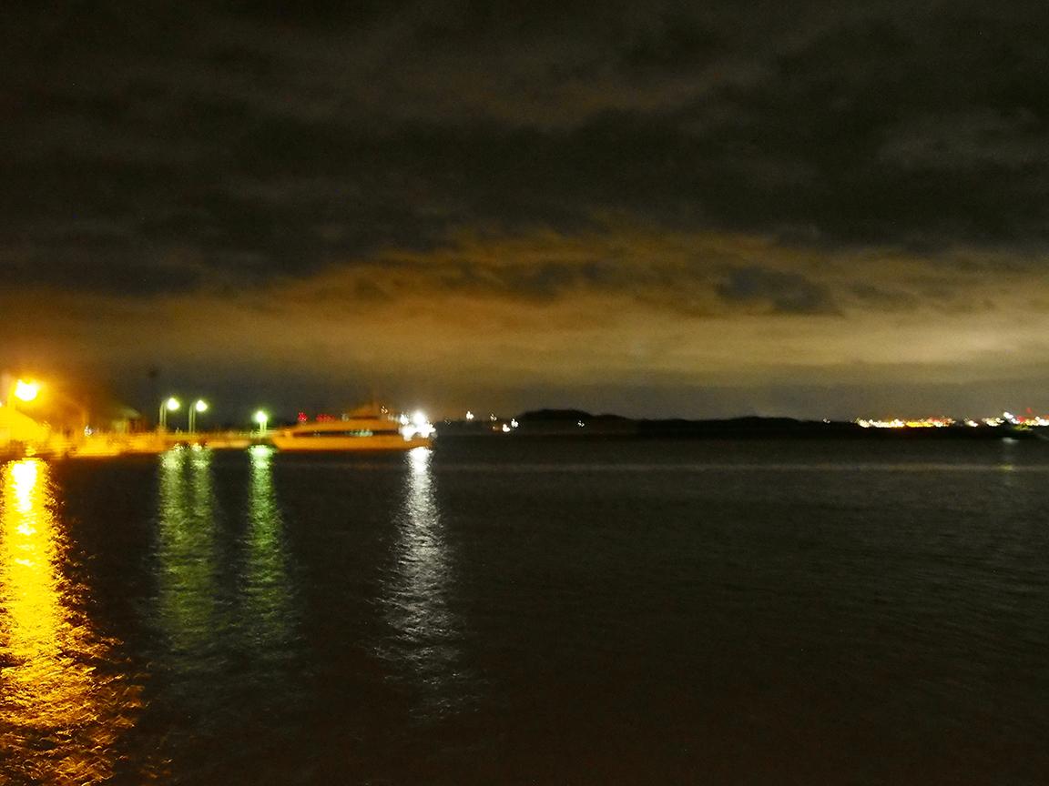 真夜中のエギング。港はお祭り騒ぎ。