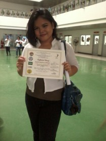 Myself Holding my Certificate!