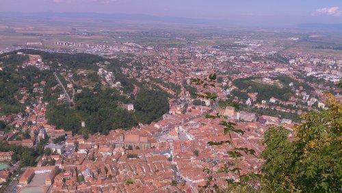 Näkymä Sibiun luterilaisen katedraalin tornista