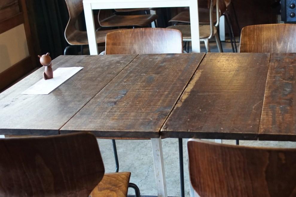 小田原 nico cafe テーブル