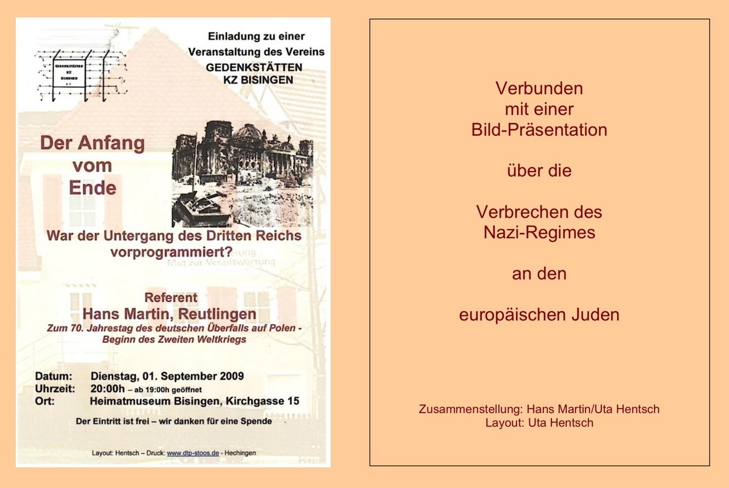 Veranstaltung 01.09.2009
