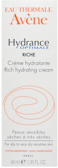 avene rich hydrating cream moisturiser