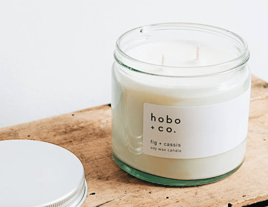 hobo & Co fig and cassis vegan candle