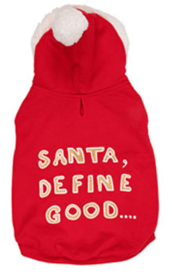 pamper your pet at christmas with santa slogan hoodie for dog