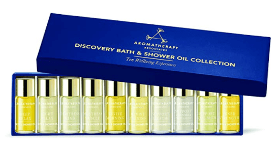 aromatherapy associates discovery wellbeing bath and shower gift setoi;
