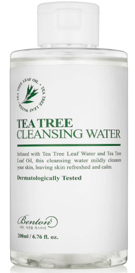skincare products for double cleanse perfect, benton tea tree water