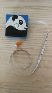 Panda-mètre ruban