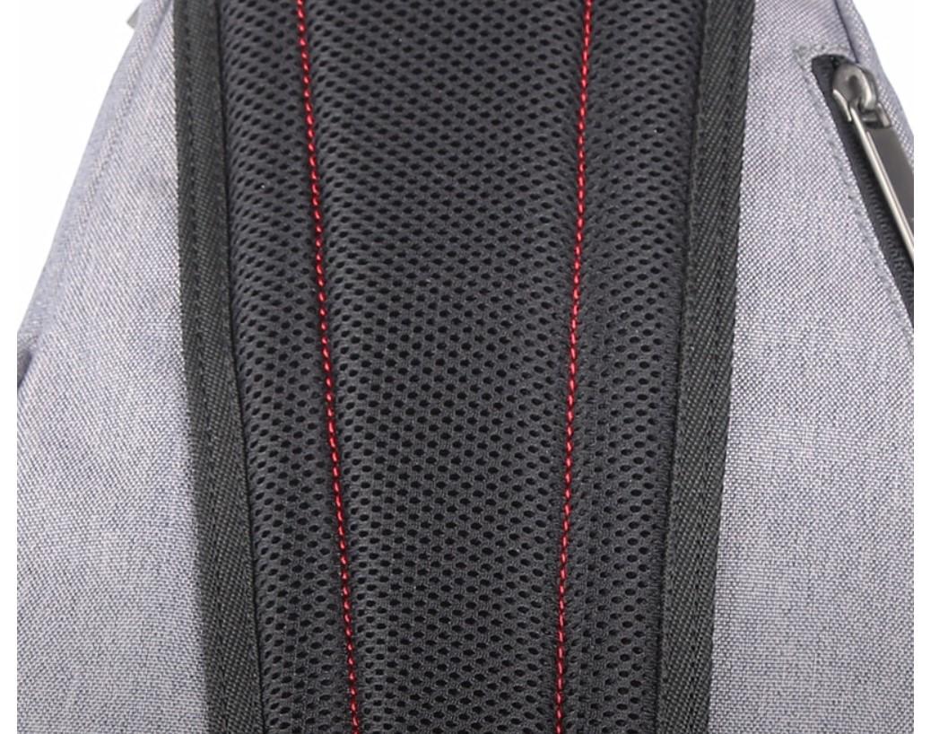 Men's Water Drop One Shoulder USB Backpack