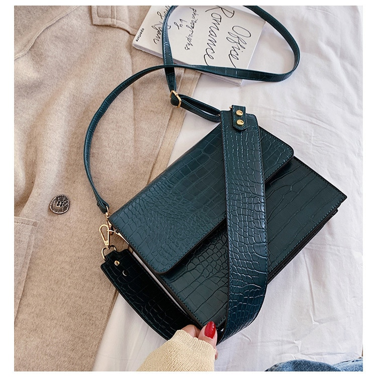 Women's Stone Patterned Crossbody Bag