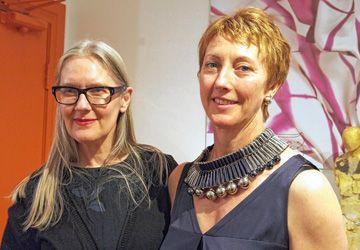 Michelle Lowe-Holder et Isabelle Fish à la boutique Rue Pigalle la semaine dernière.