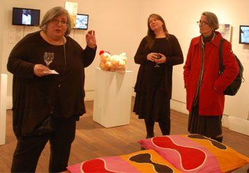 Lise Goulet et Chantal Leblanc à Glendon mardi soir dernier.