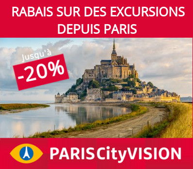 Rabais sur des excursions depuis Paris