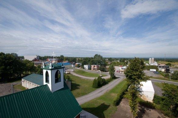 Le Canton Champlain vu de la tour de Vankleek Hill.