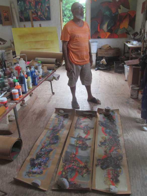 Ronald Mevs dans son atelier.