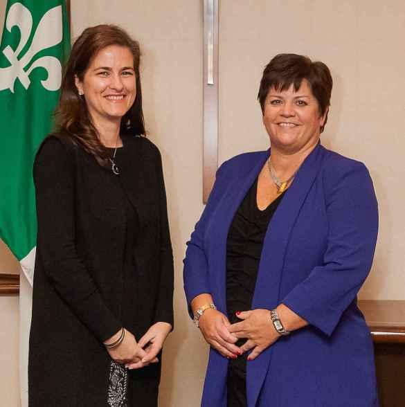 Geneviève Grenier et Melinda Chartrand.