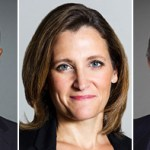Ahmed Hussen, Chrystia Freeland, Francois-Philippe Champagne.