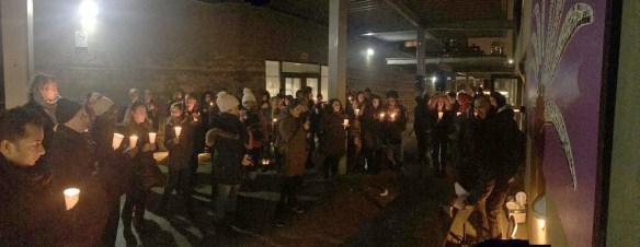 Vigile au Collège français de Toronto, l'an dernier, après la tuerie à la mosquée de Québec.