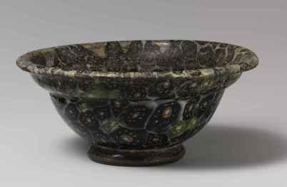 Bol, probablement de Homs, entre 25 ans avant et 25 ans après J.-C. Technique de verre en mosaïque appelée «millefiori» populaire dans la société romaine. © Metropolitan Museum of Art.
