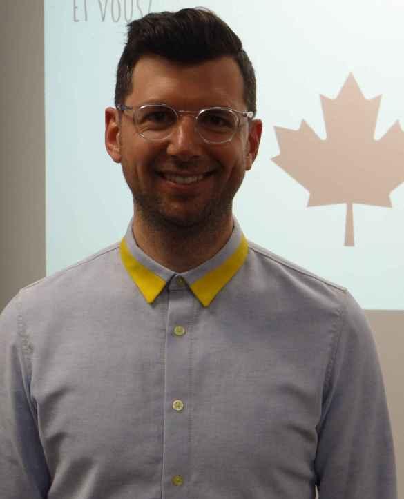Frédéric Choinière tente de vivre 100% canadien depuis maintenant 9 mois.