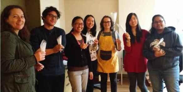 Des membres du Gastro-Café au campus de Mississauga de U of T.