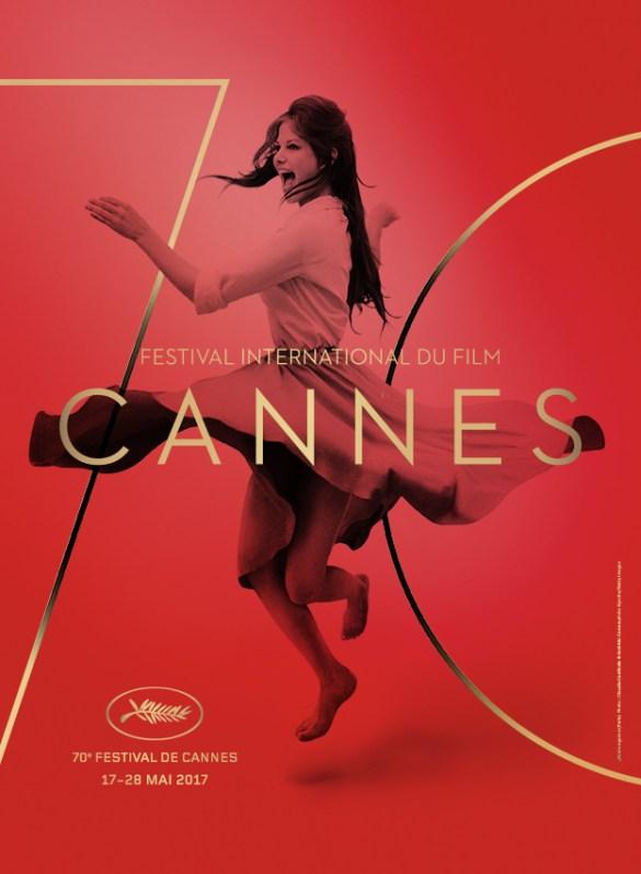L'affiche du festival de Cannes 2017 avec Claudia Cardinale (tiré d'une scène où elle danse sur un toit de Rome).