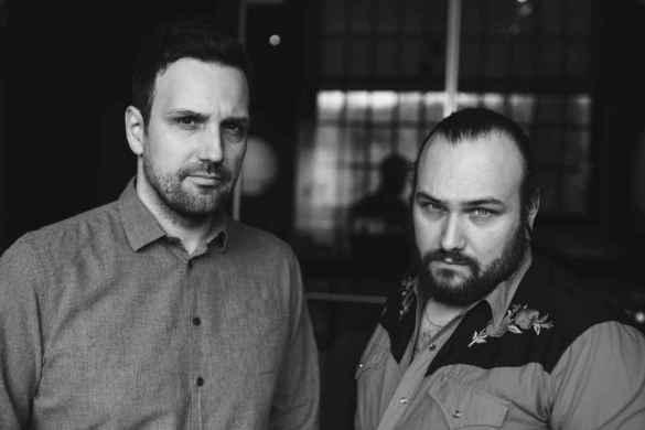 Les réalisateurs Jean-Marc E. Roy et Philippe David Gagné du court-métrage Crème de menthe.