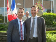 Donald Ippercie et Marc Trouyet (derrière: Alain Baudot).