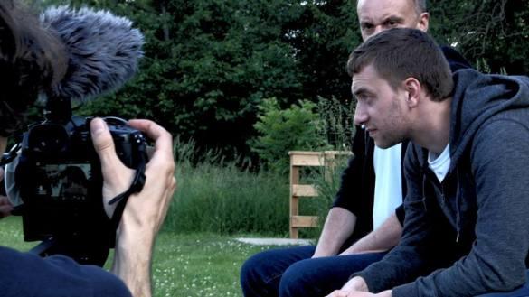 Florian François en tournage.