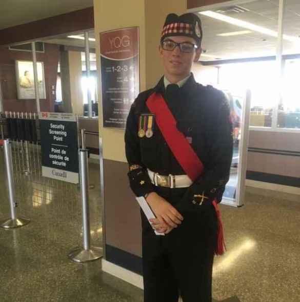 Le cadet Devin Walker à Ypres.