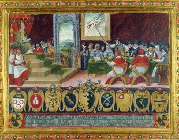 Le pape Grégoire XIII promulgue le nouveau calendrier. Le 15 octobre 1582, le calendrier grégorien remplace le calendrier julien.