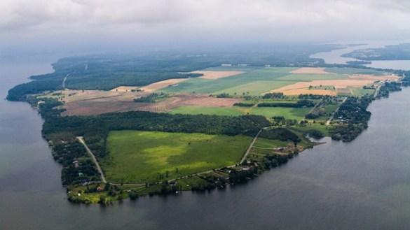 Vue aérienne de la ferme Kaiser.