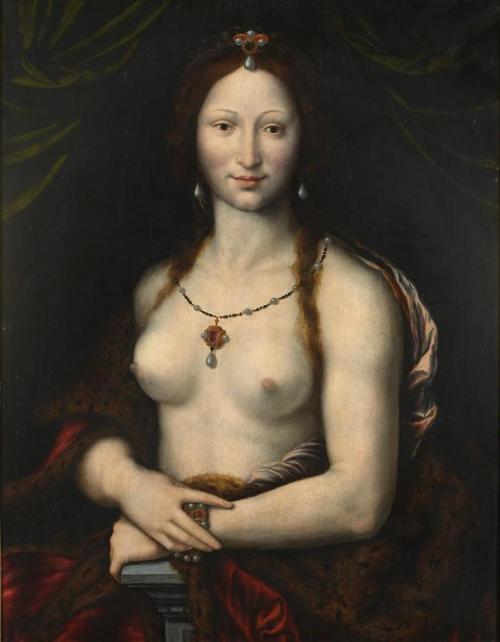 Portrait de femme en Joconde nue, Mona Vanna par Joos van Cleve, Musée national de Prague, République tchèque (p.249).