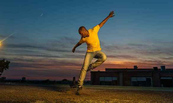 Le danseur Travis Knights qui se produira le samedi 2 décembre au festival Body Percussion 2017.