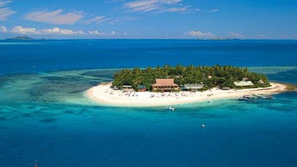 Une des îles Fidji, dans l'océan Pacifique, à quelque 4000 km ou 5 heures d'avion de l'Australie et de la Nouvelle-Zélande.