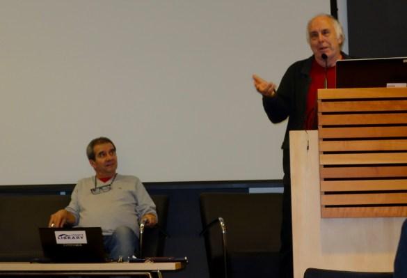 Valéry Vlad, président du Salon du Livre, et Paul Savoie, directeur