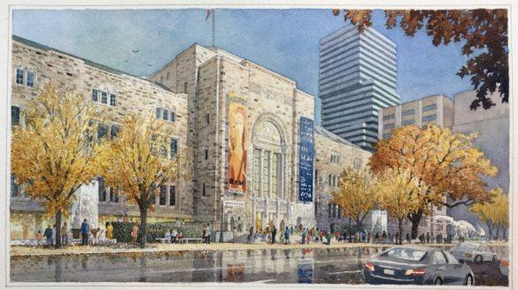 Plan de Siamak Hariri, l'architecte de la nouvelle entrée Weston du ROM