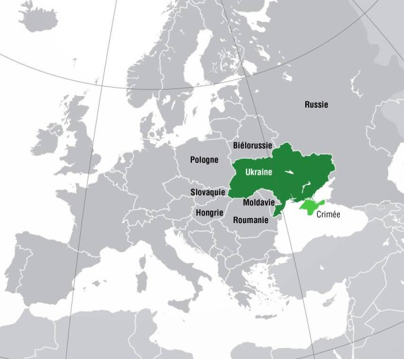 L'Ukraine et ses voisins.