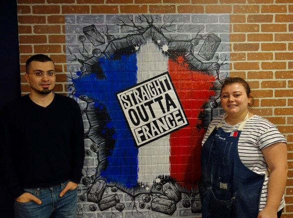 Youcef Boudou, gérant de Mister Frenchy et Estelle, cuisinière