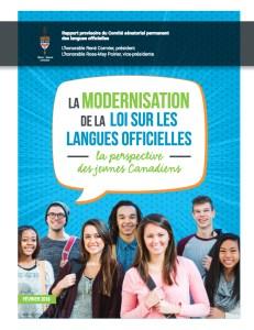 Le rapport provisoire du Comité sénatorial des langues officielles sur la perspectives des jeunes.